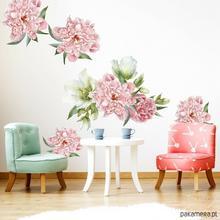 Naklejka, naklejki kwiaty - Piwonie