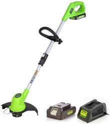 GreenWorks Tools GreenWorks Akumulatorowa Podkaszarka 24 V zestaw z 1 baterią 2 Ah i 1 ładowarką 2100107VA) NAJTANIEJ W DECOFIRE!