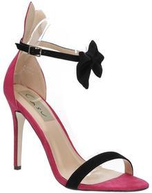 Casu Sandały różowe na szpilce z kokardą ZJ-15P