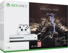 Microsoft Xbox One S 1 TB Biały + Shadow of War