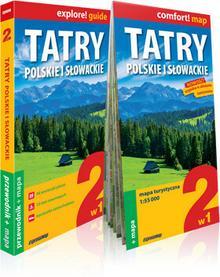 ExpressMap Tomasz Nodzyński, Marta Cobel-Tokarska explore! guide Tatry polskie i słowackie 2w1. Przewodnik + mapa