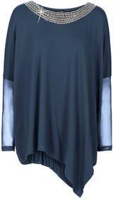 """Bonprix Shirt \""""""""nietoperz"""""""" z łańcuszkiem ciemnoniebieski"""