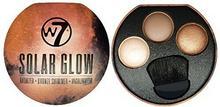 W7 Solar Glow 3Colour Bronzer, z brązu Shimmer i Highlighter Palette 5060406146264