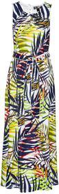 Bonprix Długa sukienka z nadrukiem biel wełny z nadrukiem