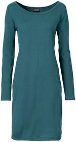 Bonprix Sukienka dzianinowa matowy niebieskozielony nowy