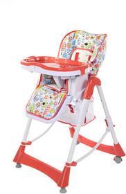 FUN BABY Krzesełko do karmienia dzieci PRIMA, składane, czerwone KC131-CE