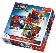 Trefl 3w1 świat Spidermana 34822