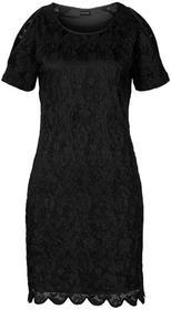 Bonprix Sukienka koronkowa z wycięciami czarny