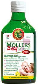 ORKLA HEALTH Mollers Baby Tran Norweski o aromacie cytrynowym 250 ml ID-9623