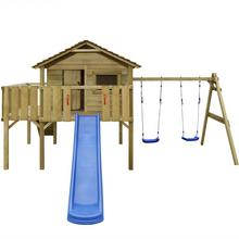 vidaXL Plac zabaw z drabiną, zjeżdżalnią i huśtawkami 480x440x294 cm