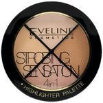 Eveline Eveline, Strobing Sensation, paleta rozświetlająca 4w1, 12 g