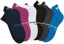 Bonprix Skarpetki sneakersy KangaROOS (6 par) antracytowy + czarny + biały + błękit królewski + różowy + granatowy