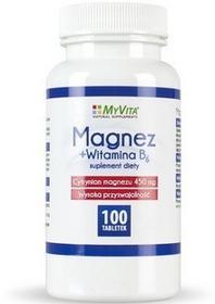 MyVita Magnez+Witamina B6 Cytrynian magnezu 450mg 100 tabletek M915