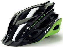Northwave STORM kask rowerowy czarno-zielony