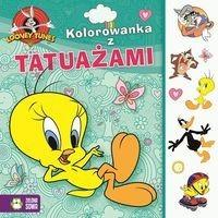 Looney Tunes Kolorowanka z tatuażami - Zielona Sowa