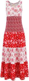 Bonprix Sukienka shirtowa truskawkowy z nadrukiem