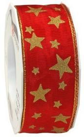 Prezent 40MM 20m Arktispasek do zegarka z drutu, złote krawędzią, czerwony/złoty