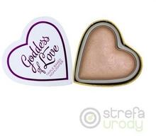 Makeup Revolution I Heart Makeup Blushing Hearts Rozświetlacz do twarzy Goddess of Love 10g B 55519