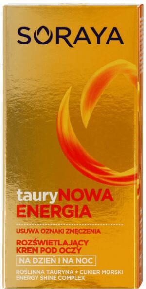 Soraya Taurynowa Energia 50 ml Rozświetlający krem pod oczy na dzień i na noc DARMOWA DOSTAWA DO KIOSKU RUCHU OD 24,99ZŁ