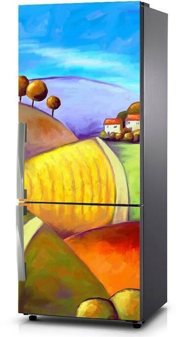 Oklejaj Naklejka na lodówkę - Kolorowe pola 0045 - Naklejka