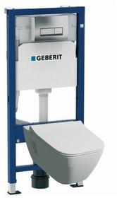 Geberit Zestaw podtynkowy WC Unifix Premium z miską bezkołnierzową i deską wolnoopadającą 118.300.21.1