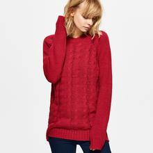 Cropp Sweter z warkoczowym splotem - Różowy