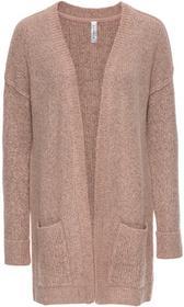 Bonprix Sweter bez zapięcia stary jasnoróżowy