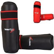 TurnerMAX Turner Max Muay Thai ochraniacze piszczeli Kick Boxing Pads Thai MMA Shin Pads Czarny, medium A72205