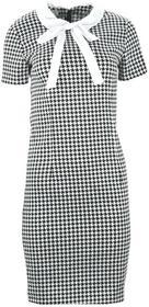 Sukienka w pepitkę z kołnierzykiem : Rozmiar - XL