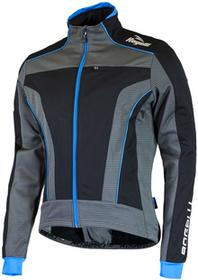 Rogelli TRANI 3.0 zimowa kurtka rowerowa czarny-niebieski