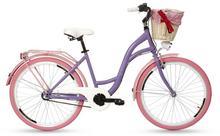 """Goetze, Rower miejski, Colours 3B 26"""", fioletowo-różowy"""