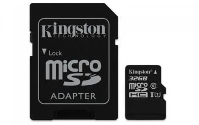 Kingston Micro SD Class 10 Gen2 + adapter 32GB
