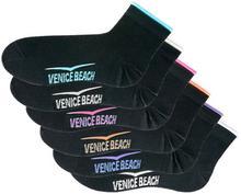 Bonprix Krótkie skarpetki Venice Beach (6 par) czarny
