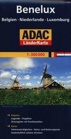 Kraje Beneluksu ADAC 1:300 000