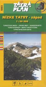 TatraPlan Nízke Tatry - západ 1:50 000