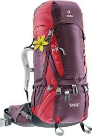 Deuter Plecak turystyczny damski Aircontact 60 + 10 SL Aubergine/Cranberry roz uniw 3320416-5518) 3320416-5518