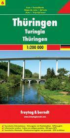 Niemcy część 6 Turyngia mapa 1:200 000 Freytag & Berndt Freytag&Berndt