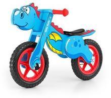 Milly Mally Drewniany rowerek biegowy DINO niebieski pompowane koła