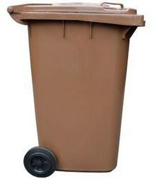 Jestic Kosz Pojemnik Na Odpady 240 l BRĄZOWY