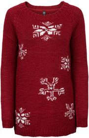 Bonprix Sweter ciemnoczerwony