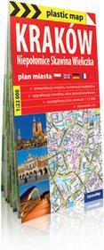 ExpressMap praca zbiorowa plastic! map Kraków. Niepołomice. Skawina. Wieliczka. Foliowany plan miasta 1:22 000