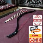 OKCUBABA PREMIUM turecki tradycyjny PV włókna szklanego łuk z żywicy cel strzał 30-45 lbs turecki
