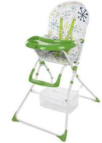 FUN BABY Krzesełko do karmienia dzieci, rozkładane - Basic- zielone KC127-ZN