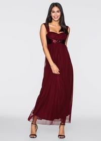 Bonprix Długa sukienka czerwony klonowy