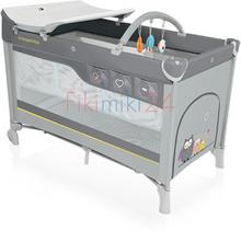 Baby Design Babydesign łóżeczko turystyczne DREAM NEW 07 SZARE 768011
