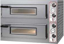Pizza Group Dwukomorowy piec do pizzy ze stali nierdzewnej sterowany manualnie, 2x4 pizza 340 mm   Entry Basic 8 P07EN10063