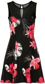 Bonprix Sukienka z kwiatowym nadrukiem czerwony w kwiaty