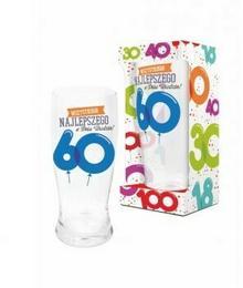 BGtech BALONIKI szklanka do piwa 500ml 60 urodziny 11901620/OP-059-021/PL-3364