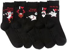 Bonprix Skarpetki bożonarodzeniowe (5 par) czarny