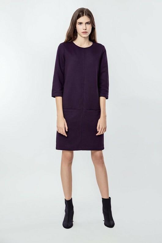b552188b12 Sukienka bawełniana z kieszeniami Smart Purple – ceny